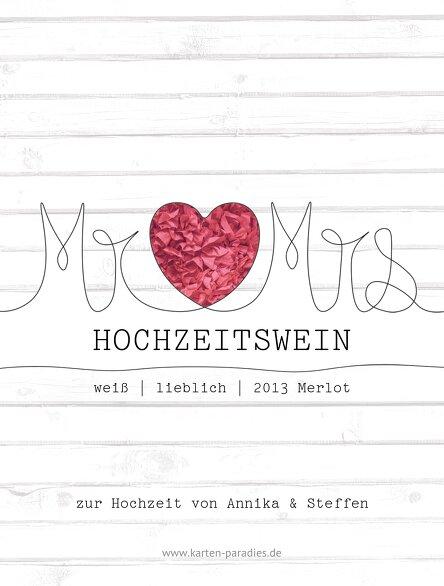 Ansicht 2 - Flaschenetikett Mr&Mrs
