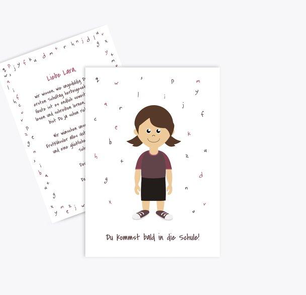 Glückwunschkarten Einschulung Mädchen