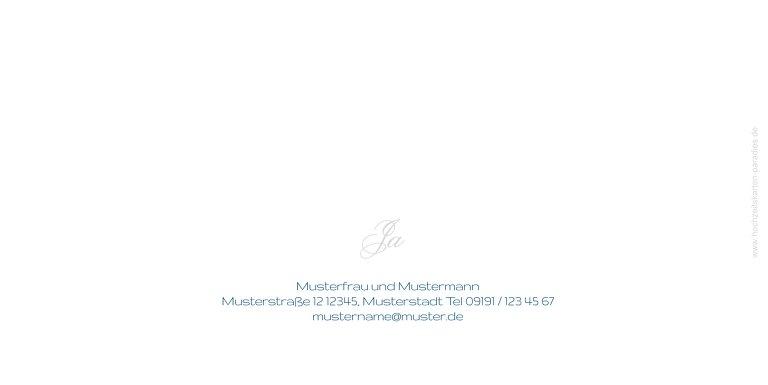 Ansicht 2 - Hochzeit Einladung Sagja