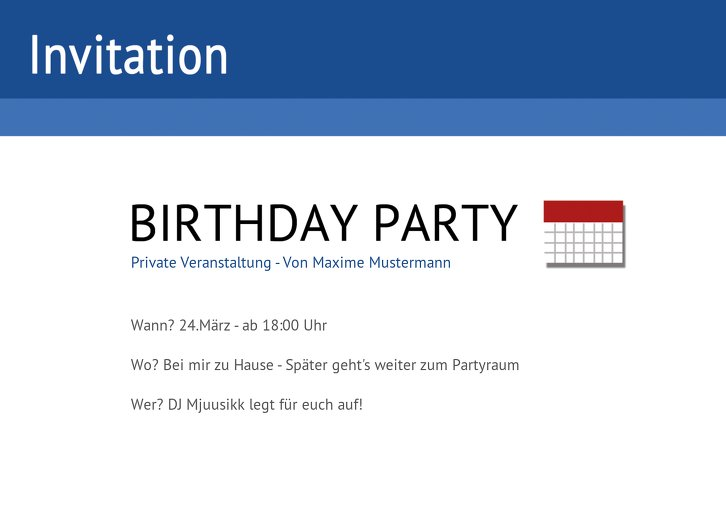 Ansicht 4 - Geburtstagseinladung Gefällt mir!
