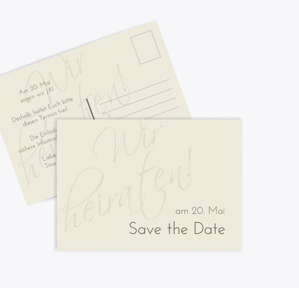 Save-the-Date Liebesbotschaft