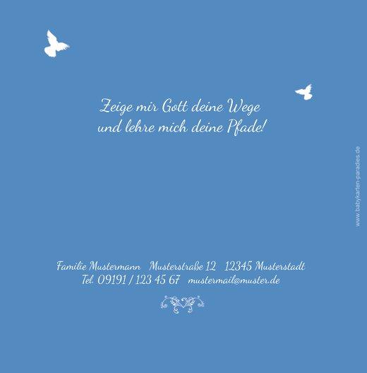 Ansicht 2 - Kommunionskarte Vogel