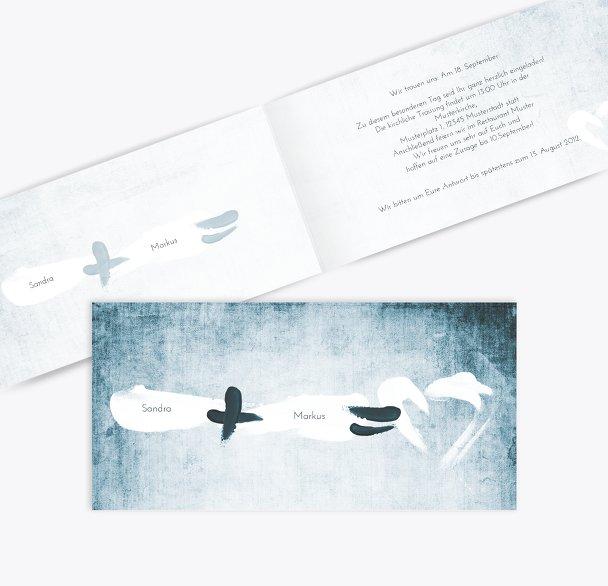 Hochzeit Einladung Du + Ich = Liebe