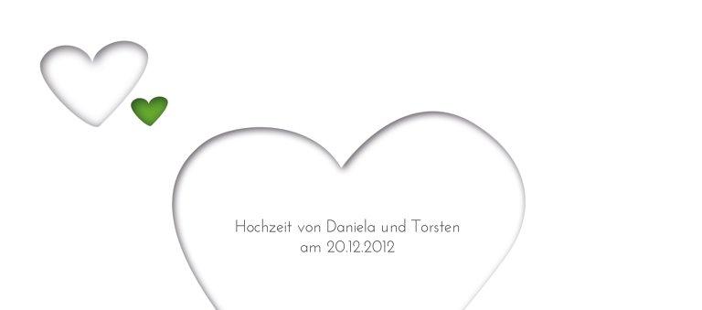 Ansicht 3 - Hochzeit Tischkarte Herzform