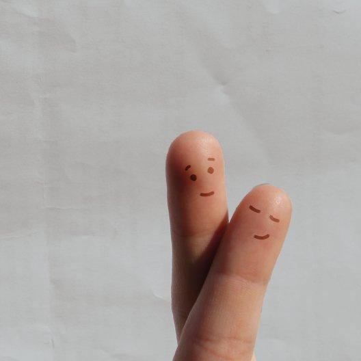 Ansicht 4 - Hochzeit Einladung Fingerpaar