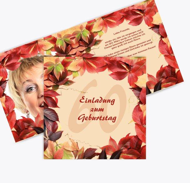 Einladungskarte Blumentraum 60 Foto