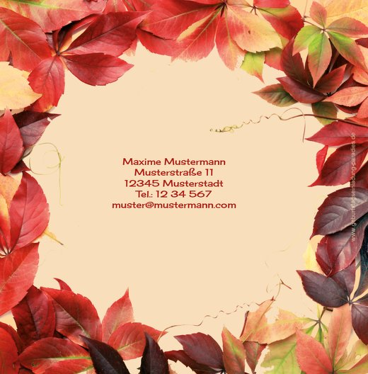 Ansicht 2 - Einladungskarte Blumentraum 60 Foto