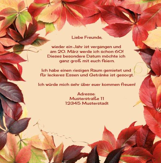 Ansicht 5 - Einladungskarte Blumentraum 60