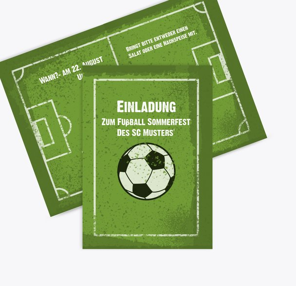 Einladung Sommerfest Fußballfeld