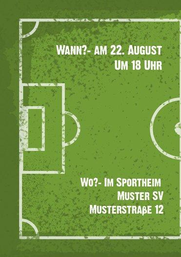Ansicht 4 - Einladung Sommerfest Fußballfeld