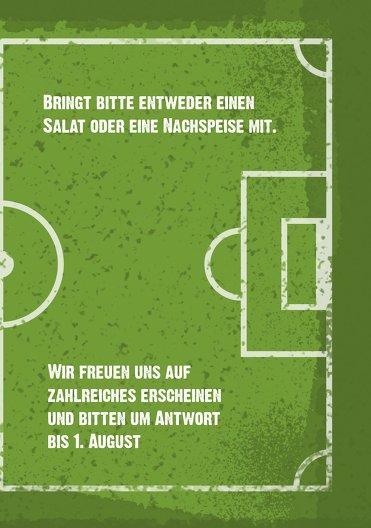 Ansicht 5 - Einladung Sommerfest Fußballfeld