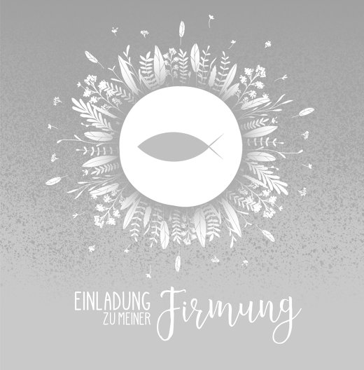 Ansicht 3 - Firmung Einladung Blumenfisch