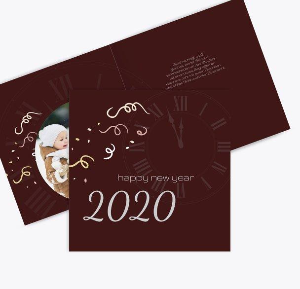 Neujahrskarte kurz vor 12