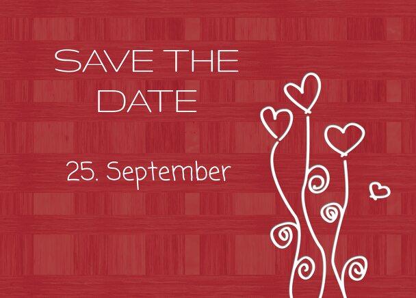 Ansicht 2 - Hochzeit Save the Date Liebestraum
