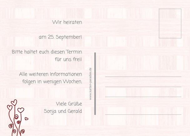 Ansicht 3 - Hochzeit Save the Date Liebestraum