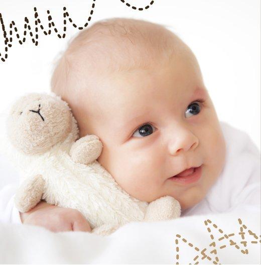 Ansicht 2 - Babykarte Naht