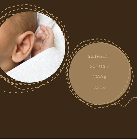 Ansicht 5 - Babykarte Naht