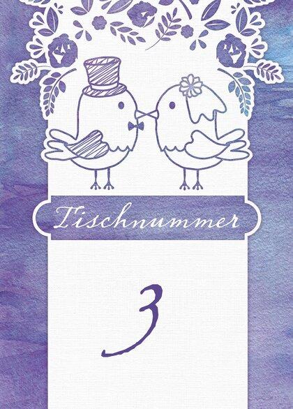 Ansicht 2 - Tischnummer Vogelpaar