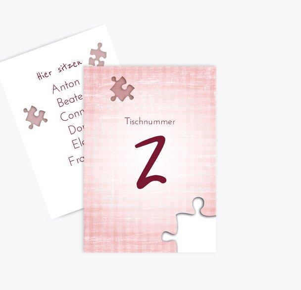 Tischnummer Puzzle