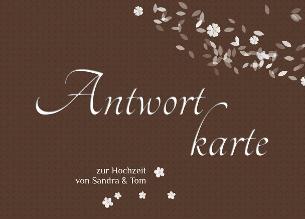 Ansicht 2 - Hochzeit Antwortkarte romantic flower