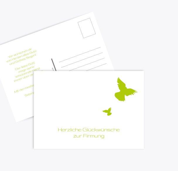 Glückwunschkarte Firmung Taube