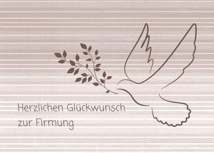 Ansicht 2 - Glückwünsche zur Firmung Taube 2