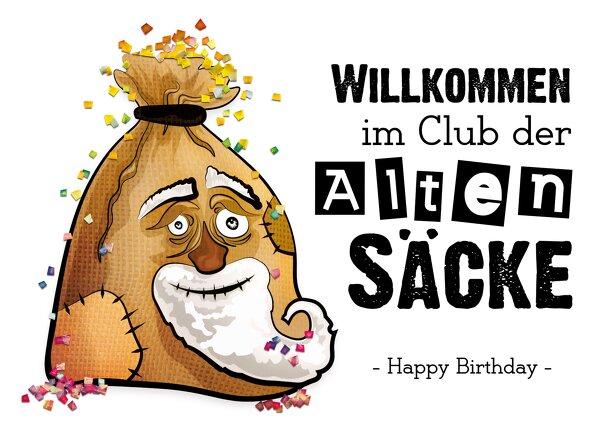 Ansicht 2 - Glückwunschkarte zum Geburtstag Sack