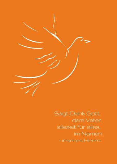 Ansicht 2 - Kommunion Dankeskarte Pigeon