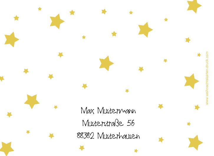 Ansicht 2 - Grußkarte Sterne