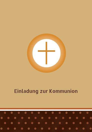 Ansicht 3 - Kommunionskarte Kreuzhostie