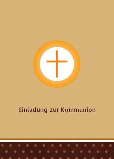 Ansicht 2 - Kommunionskarte Kreuzhostie