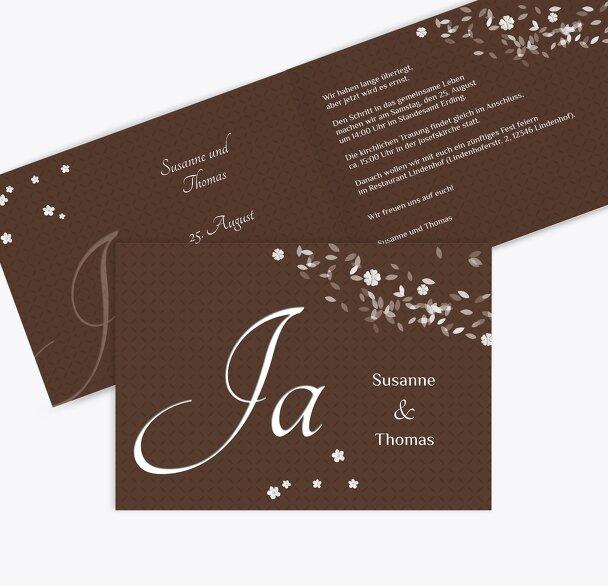 Hochzeit Einladung romantic flower