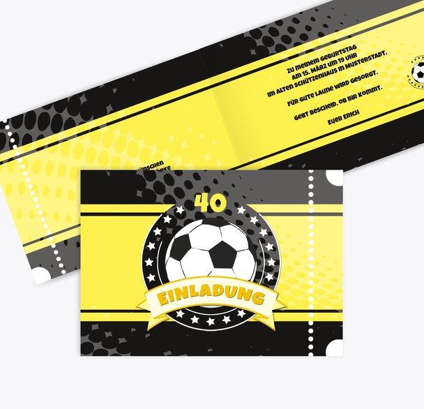 Einladungskarte Fußballstar 40