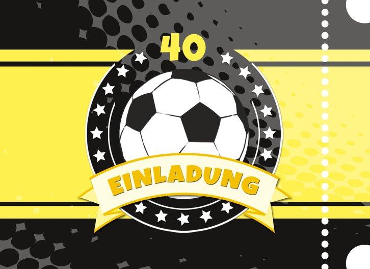 Ansicht 3 - Einladungskarte Fußballstar 40