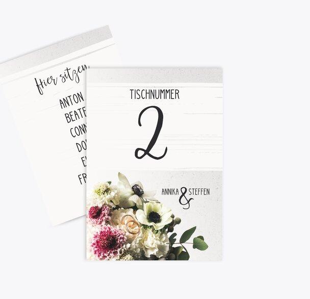 Tischnummer Bouquet