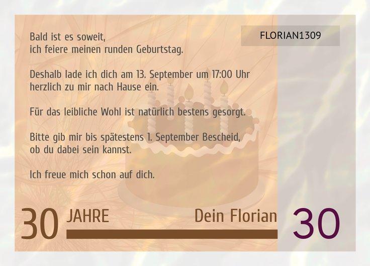 Ansicht 3 - Einladungskarte Geldschein 30