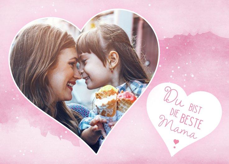 Ansicht 2 - Muttertagskarte Herzen