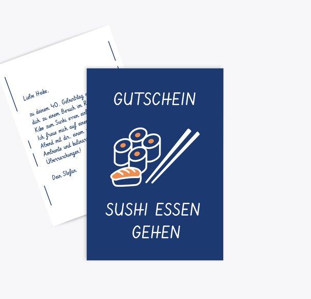 Gutschein zum Geburtstag Sushi essen gehen