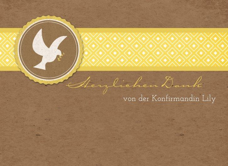 Ansicht 3 - Konfirmation Dankeskarte Flügelschlag