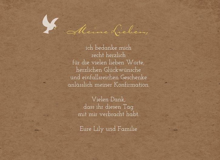 Ansicht 5 - Konfirmation Dankeskarte Flügelschlag