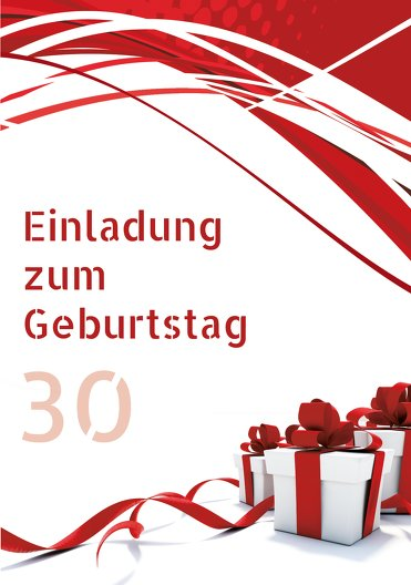 Ansicht 3 - Geburtstag Schleifenband 30