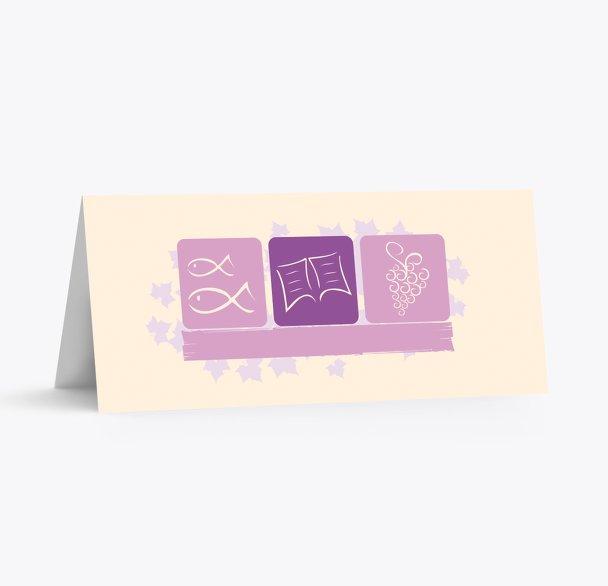 Firmung Tischkarte Blatt