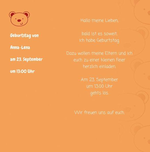 Ansicht 4 - Geburtstagskarte Bärchengesicht Foto