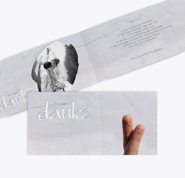 Hochzeit Dankeskarte Fingerpaar