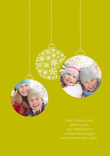 Ansicht 4 - Weihnachtsgrußkarte Foto Kugeln