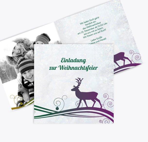 Foto Einladung Bunter Wintertraum