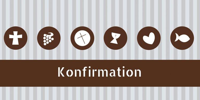 Ansicht 3 - Konfirmation Einladung stripes-buttons