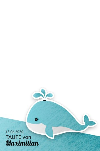 Ansicht 2 - Fingerabdruck Leinwand Wal