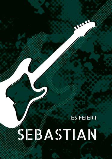 Ansicht 3 - Geburtstagskarte Guitar
