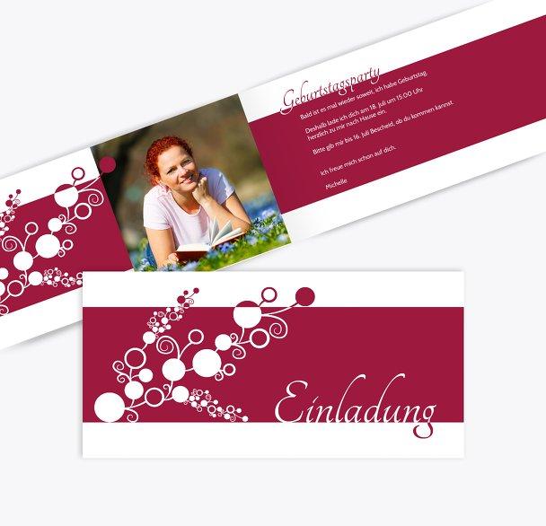 Einladungskarte Bubble Limb Foto